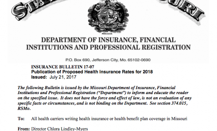 Public Access to Health Insurance Rates Postponed in MO