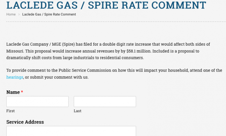 Laclede Gas Spire Hearings Consumers Council Of Missouri